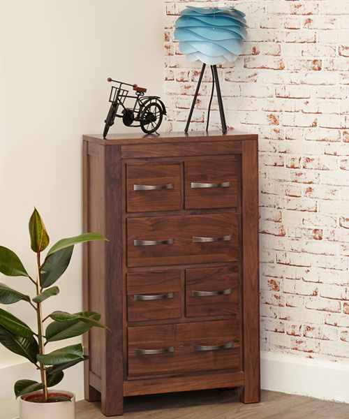 walnut cd / dvd storage unit