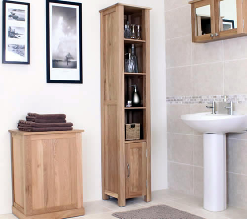 oak bathroom storage unit mobel bathroom storage cabinets - Furniture In The Bathroom