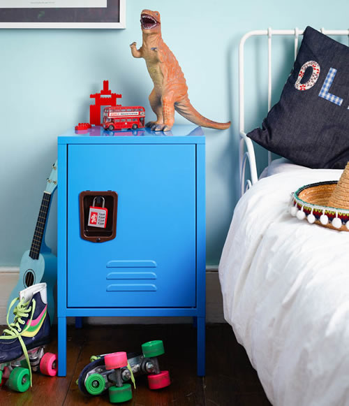 store | kids retro locker bedside cabinet