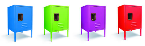 Kids Retro Locker Bedside Cabinet