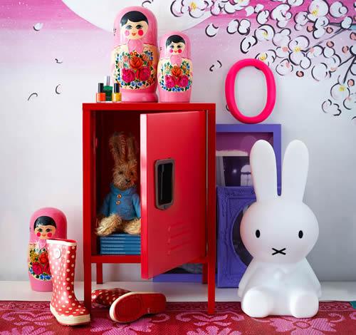 Red Small Storage Locker