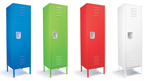 Kids Retro Bedroom Locker Tall Childrens Storage
