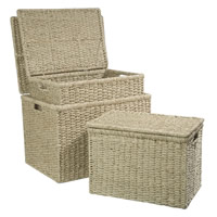 Medium Seagrass Box with Lid