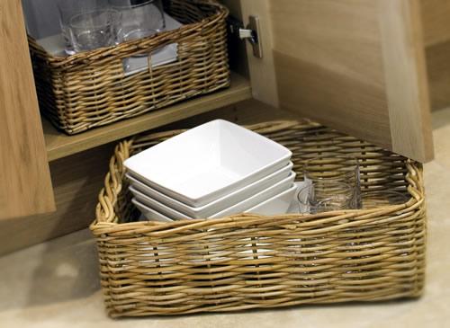 Store Extra Large Rectangular Wicker Basket