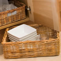Large Rectangular Wicker Basket