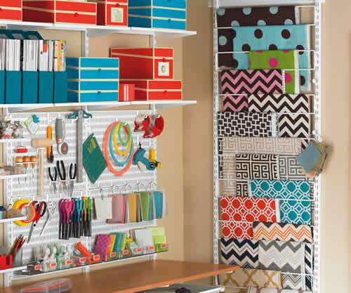Paper, Fabric and Magazine Hanging Rail - Elfa
