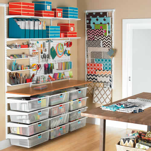 Craft Room Elfa Storage Solution