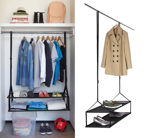 Wardrobe shoe shelves