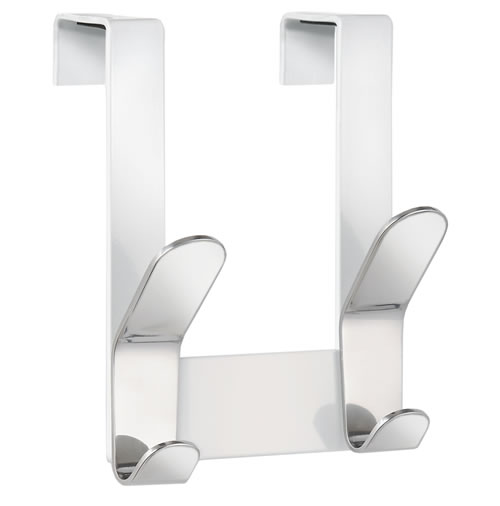 Over Cabinet Stainless Steel Double Hook
