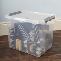 Lidded Plastic Storage Box - 52 Ltr