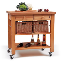 Lambourn 2 Drawer Kitchen Trolley