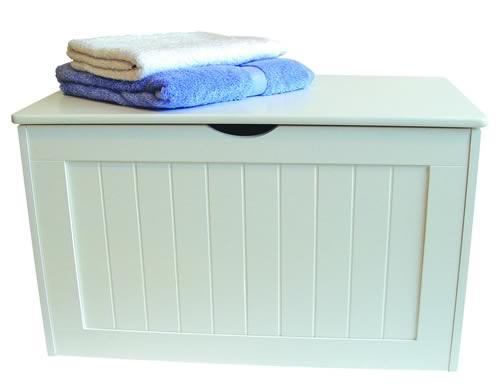 White Wooden Storage Chest