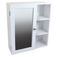 White Wood Bathroom Cabinet