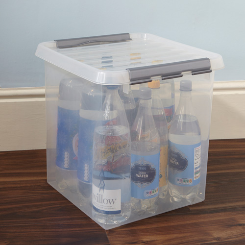38 Litre Plastic Storage Box & STORE | Lidded Plastic Storage Box - 38 Ltr