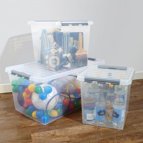 Lidded 38 litre plastic storage box