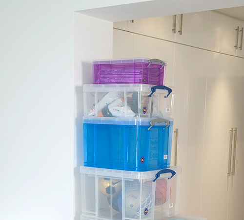 great clear storage box of mens shoes!