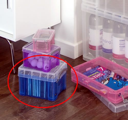 Plastic CD & DVD Storage Box - Really Useful Boxes RUB