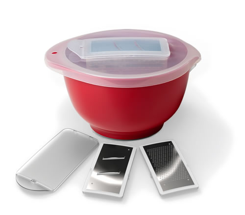 Mixing Bowl with Built-In Graters