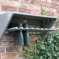 Wall Mounted Welly Rack - Wooden