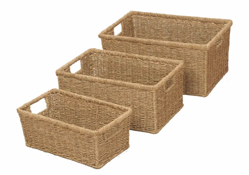 Set of 3 Seagrass Baskets