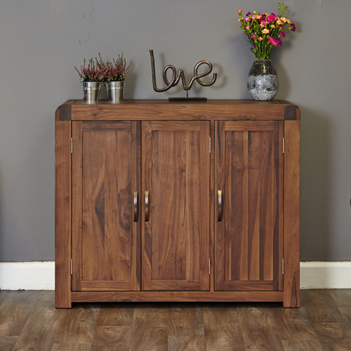 Extra Large Walnut Shoe Cabinet