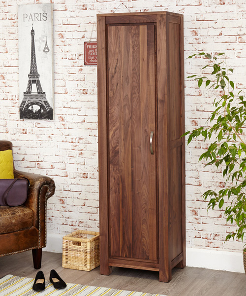 Walnut Tall Shoe Cabinet