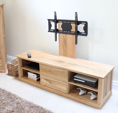 TV Mounting Oak Cabinet