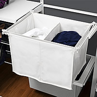 Elfa Divided Hamper and Drawer Frame