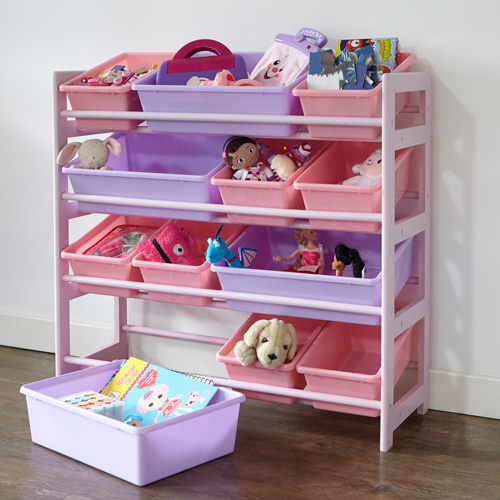 ... toy store to include twelve removable plastic toy storage boxes which