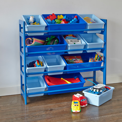 4 Tier Toy Storage Unit Blue Home Storage Systems From