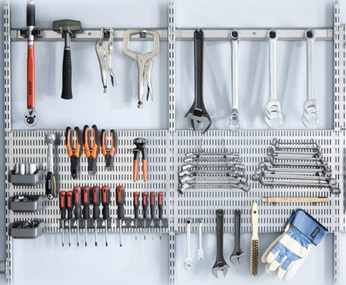 elfa tool store garage storage solution
