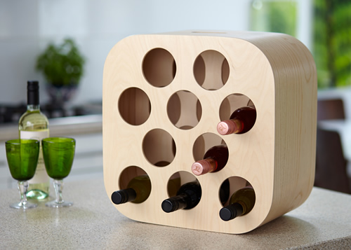 Handmade Ash Nello wine rack