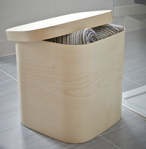 Handmade beech storage box
