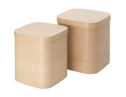 Steamed Wood Storage Box - Large