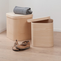 Steamed Wood Storage Box - Small