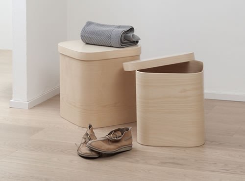 Handmade beech storage box with lid