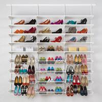 elfa shelving shoe storage solution