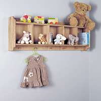 Oak Shelf and Hanging Pegs - Amelie