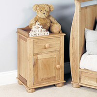 Oak Bedside Cabinet - Amelie