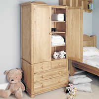 Solid Oak Double Wardrobe - Amelie