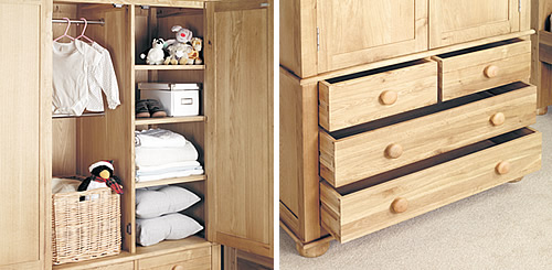 solid oak childrens wardrobe
