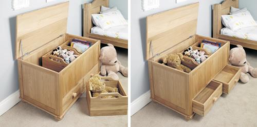 Oak Toy Box / Blanket Box - Amelie