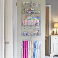 Elfa Door & Wall Rack - Over Door Gift Wrap Store