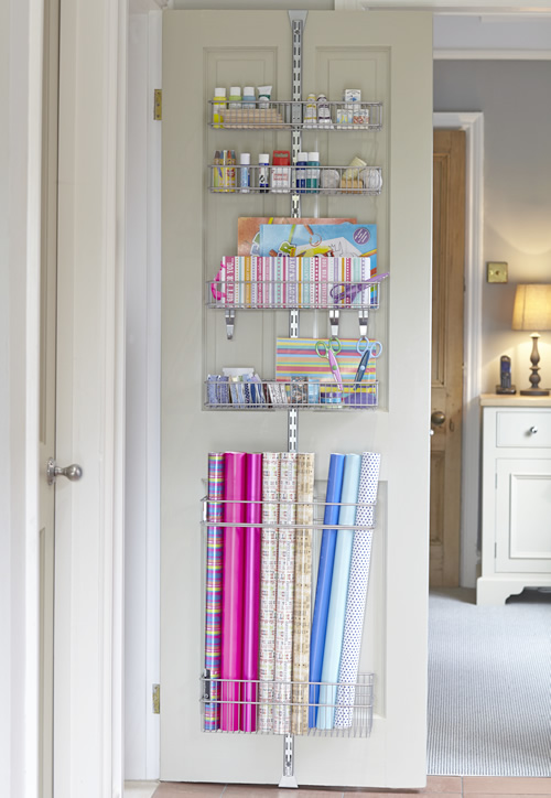elfa wrapping paper storage