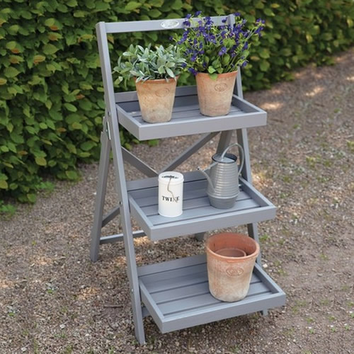 Our wooden ladder plant stand will add a traditional country cottage