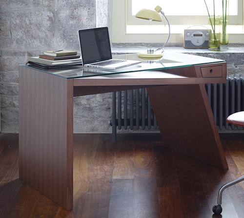Glass Top Writing Desk - Gerrit