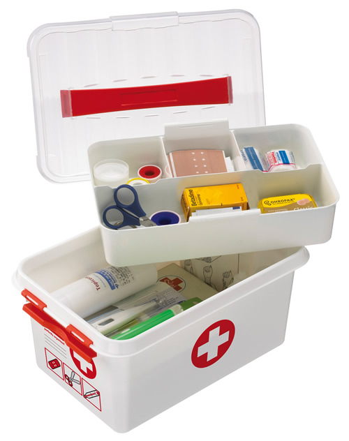 Beau 6 Litre Plastic First Aid Storage Tin Box