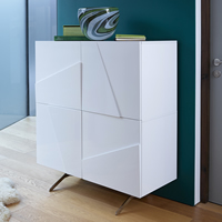 High Gloss Tall Sideboard - Glacier