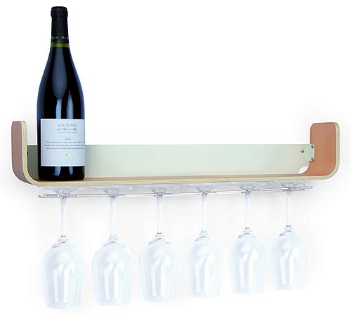 Ashwood wine glass storage shelf