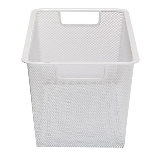 white mesh basket from elfa